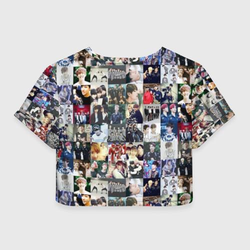 Женская футболка Crop-top 3D BTS Collage Фото 01