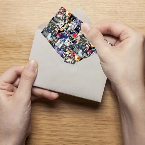 Поздравительная открытка BTS Collage Фото 01