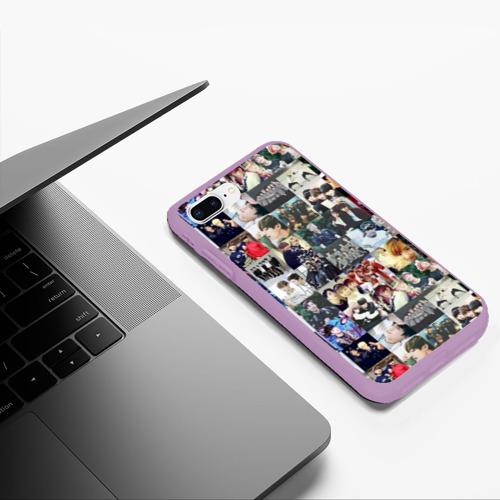 Чехол для iPhone 7/8 Plus матовый BTS Collage Фото 01