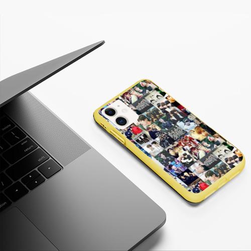 Чехол для iPhone 11 матовый BTS Collage Фото 01