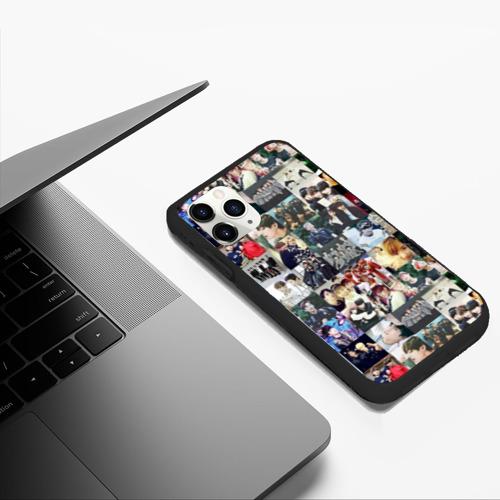 Чехол для iPhone 11 Pro Max матовый BTS Collage Фото 01