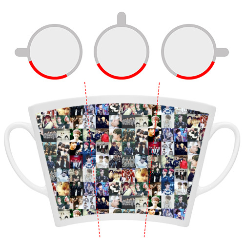 Кружка Латте BTS Collage Фото 01