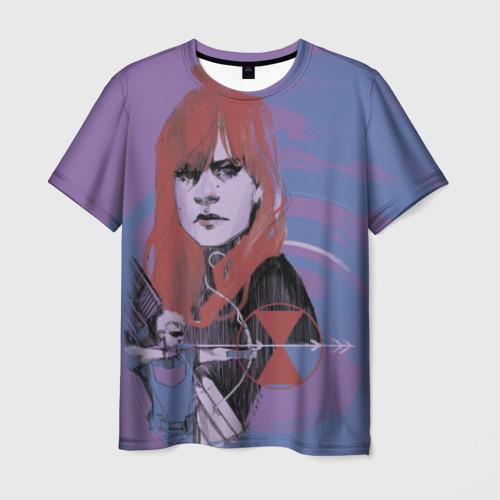 Мужская футболка 3D Natasha Romanoff