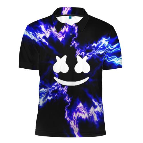 Мужская рубашка поло 3D Marshmello DJ