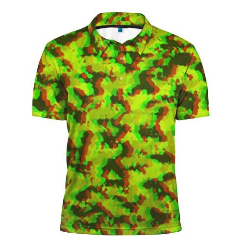 Мужская рубашка поло 3D Камуфляж Хаки