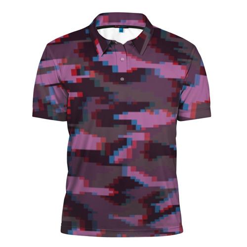 Мужская рубашка поло 3D Розовый камуфляж