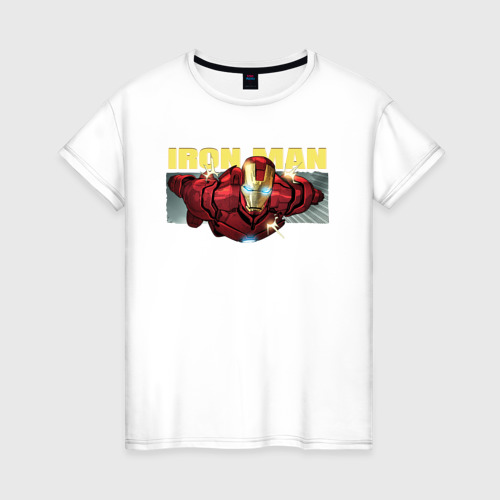 Женская футболка хлопок Iron Man comics