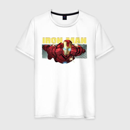 Мужская футболка хлопок Iron Man comics