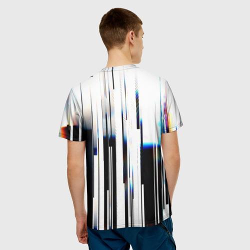 Мужская футболка 3D Абстракция Глитч Фото 01