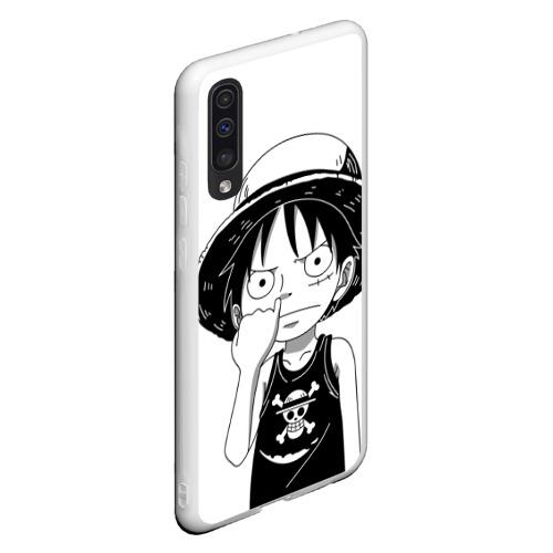 Чехол для Samsung A50 палец в носу One Piece Фото 01