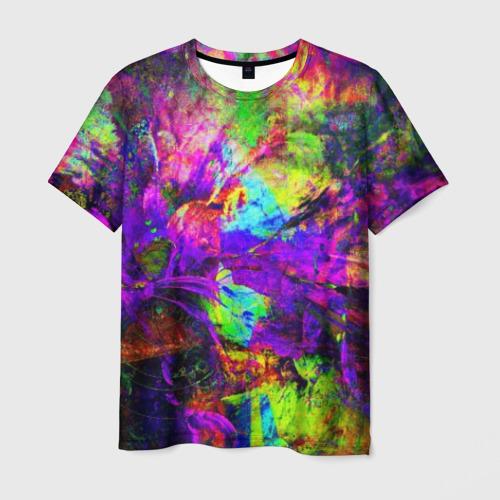 Мужская футболка 3D Буйство цвета