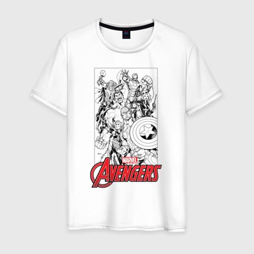 Мужская футболка хлопок MARVEL Avengers comics