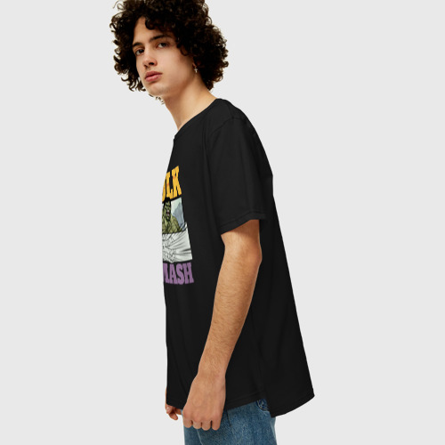Мужская футболка хлопок Oversize Hulk Smash Фото 01