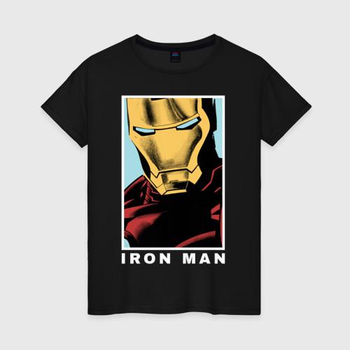 Женская футболка хлопок IRON MAN poster