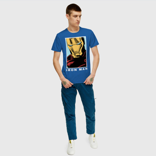 Мужская футболка хлопок IRON MAN poster Фото 01