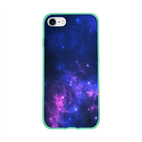 Чехол для Apple iPhone 8 силиконовый глянцевый Неоновый космос Фото 01