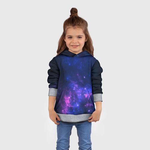 Детская толстовка 3D Неоновый космос Фото 01