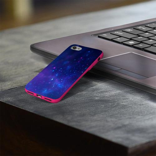 Чехол для Apple iPhone 8 силиконовый глянцевый Космос Фото 01