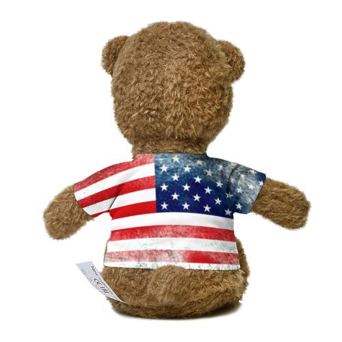 Олимпийский мишка рвет американский флаг картинка