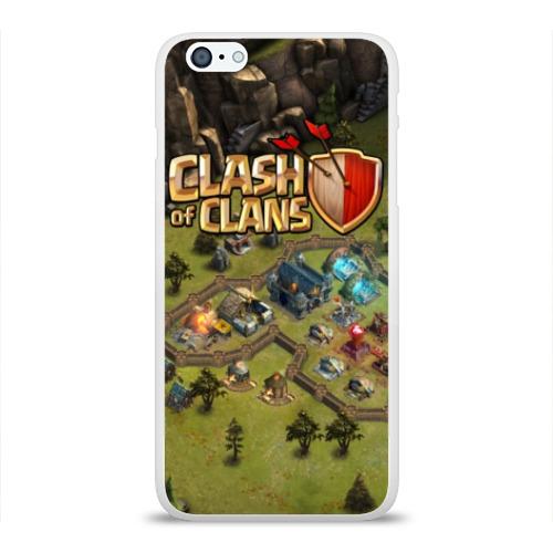 Чехол для Apple iPhone 6Plus/6SPlus силиконовый глянцевый Clash of Clans Фото 01