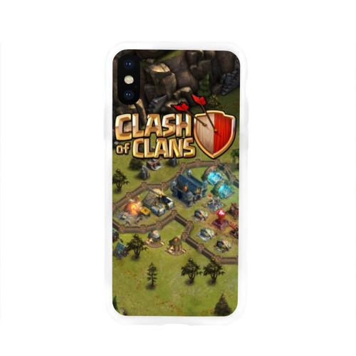 Чехол для Apple iPhone X силиконовый глянцевый Clash of Clans Фото 01