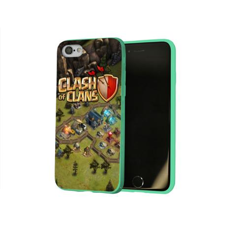 Чехол для Apple iPhone 8 силиконовый глянцевый Clash of Clans Фото 01