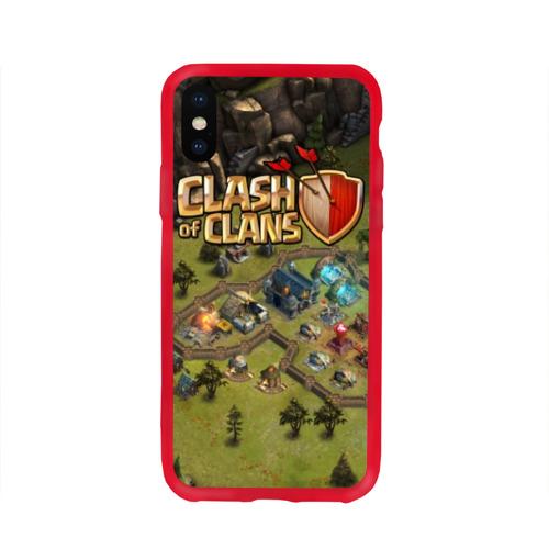 Чехол для iPhone X глянцевый Clash of Clans Фото 01