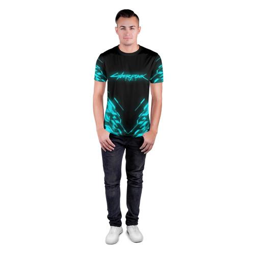 Мужская футболка 3D спортивная CYBERPUNK 2077 Фото 01