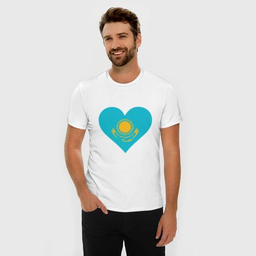 Мужская футболка премиум  Фото 03, Сердце Казахстана
