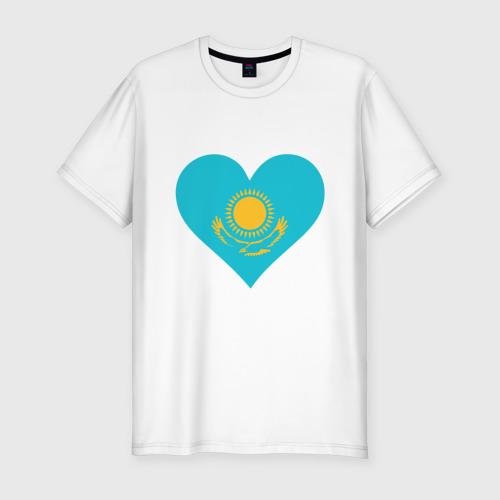 Мужская футболка премиум  Фото 01, Сердце Казахстана