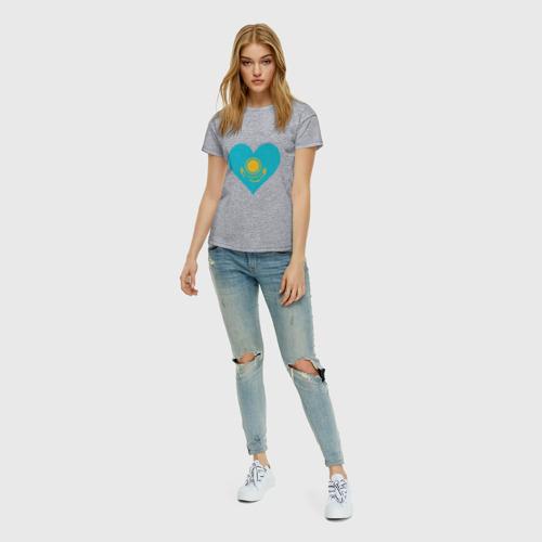Женская футболка хлопок Сердце Казахстана Фото 01