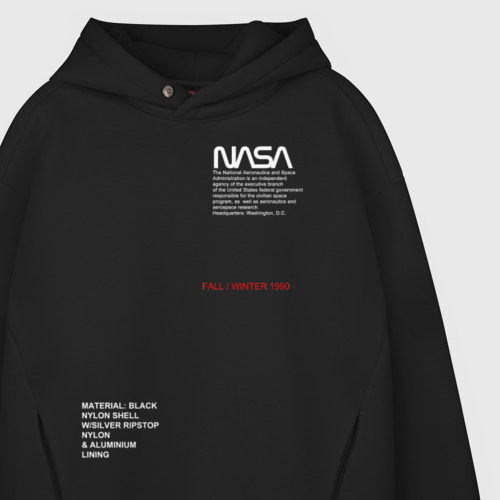 Мужское худи Oversize хлопок NASA / НАСА Фото 01