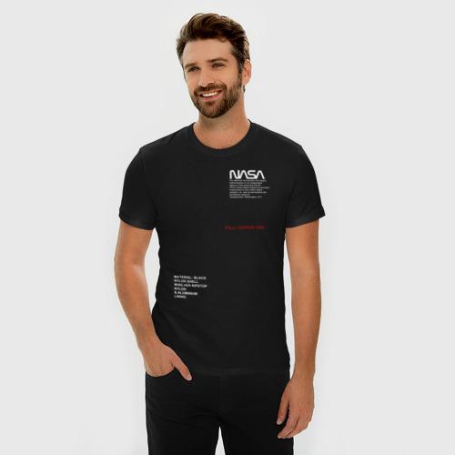 Мужская футболка хлопок Slim NASA / НАСА Фото 01