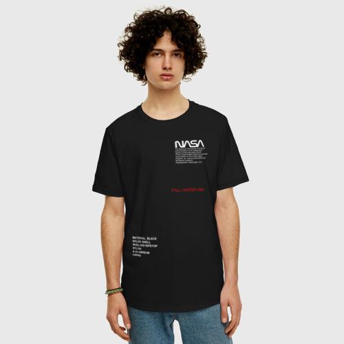 Мужская футболка хлопок Oversize NASA Фото 01