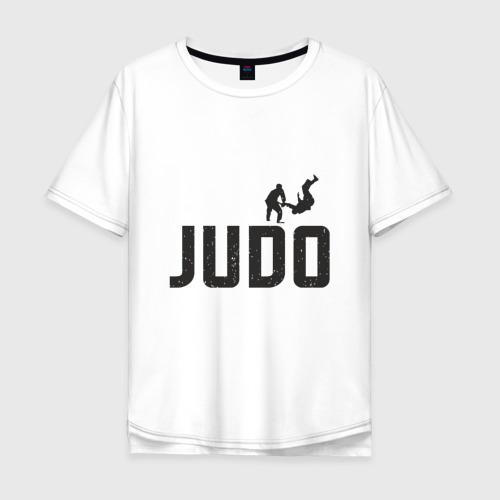 Мужская футболка хлопок Oversize Дзюдо