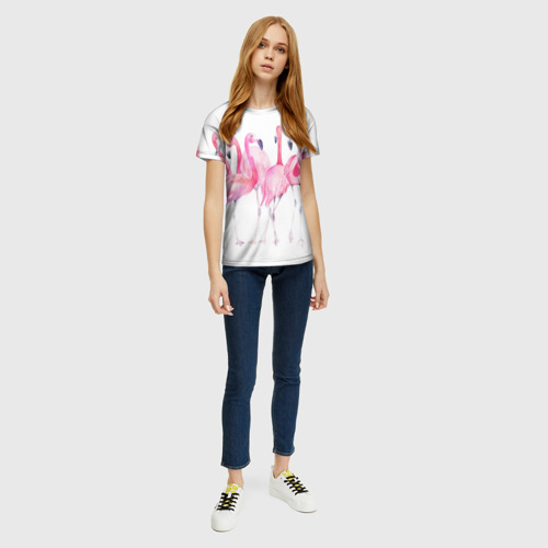 Женская футболка 3D Фламинго Фото 01