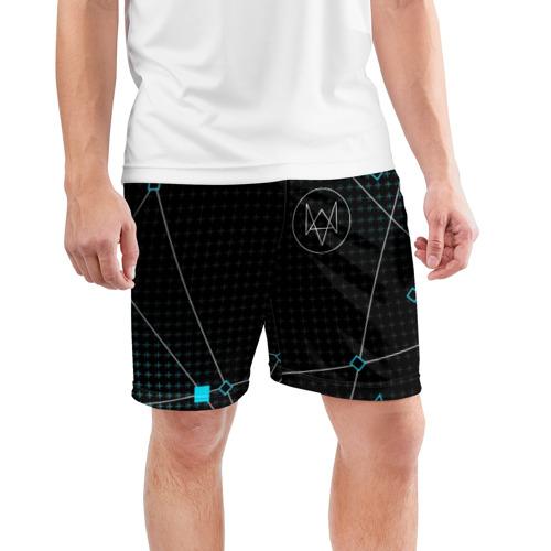 Мужские шорты 3D спортивные  Фото 03, WATCH DOGS