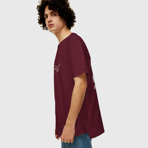Мужская футболка хлопок Oversize LIL PEEP (НА СПИНЕ) Фото 01