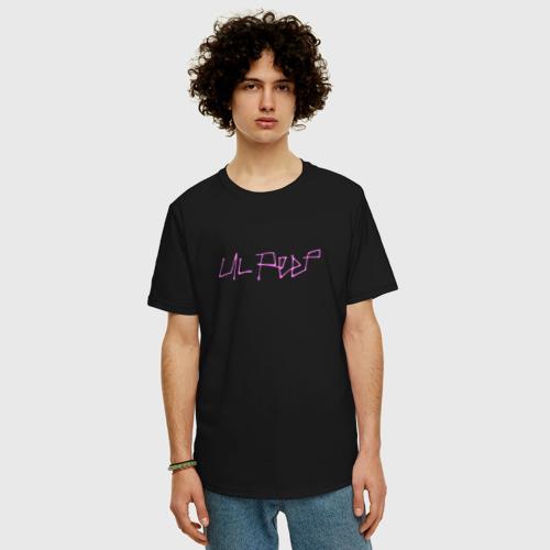Мужская футболка хлопок Oversize LIL PEEP (НА СПИНЕ) | ЛИЛ ПИП Фото 01