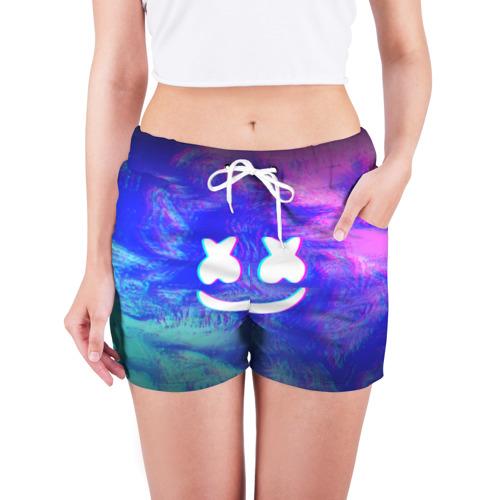 Женские шорты 3D MARSHMELLO GLITCH Фото 01