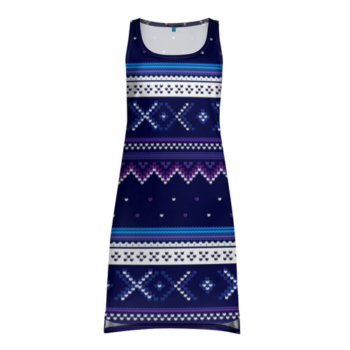 Платье-майка 3D Яркий узор 2
