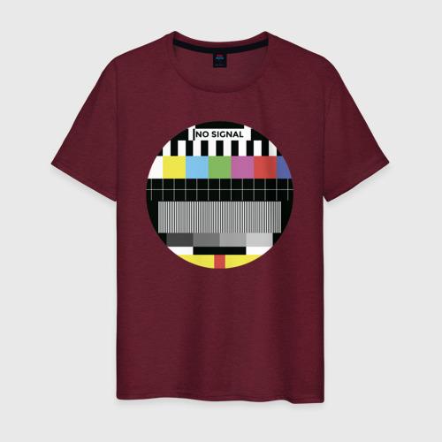Мужская футболка хлопок Нет сигнала Фото 01