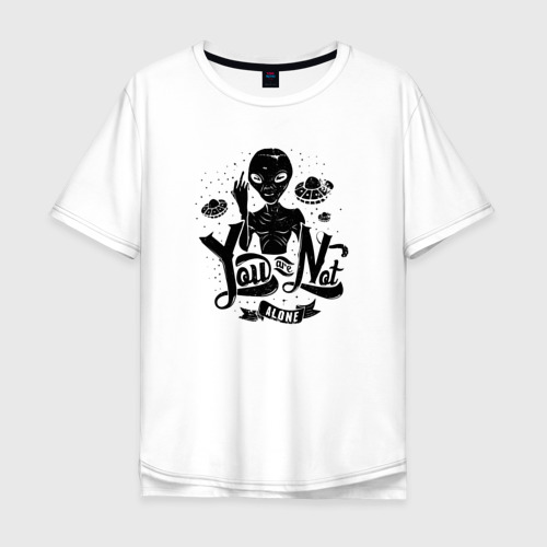 Мужская футболка хлопок Oversize You Are Not Alone Фото 01
