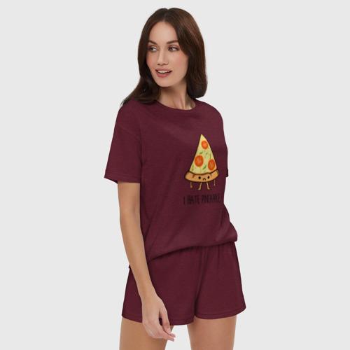 Женская пижама с шортиками хлопок I Hate Pineapple Фото 01