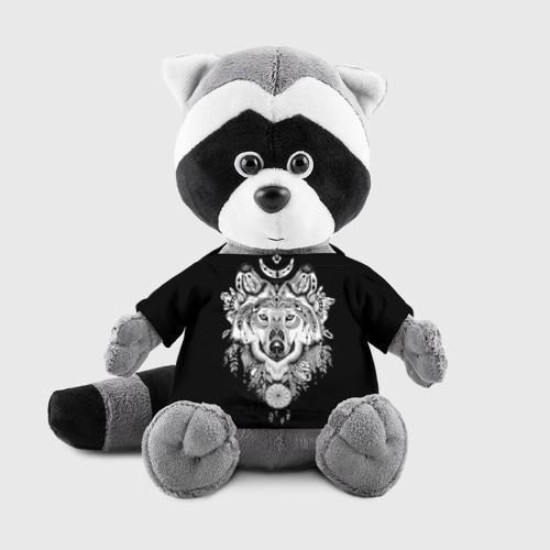 Енотик в футболке 3D Ацтекский волк Фото 01