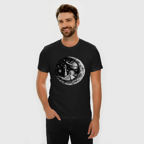 Мужская футболка премиум  космос Фото 01