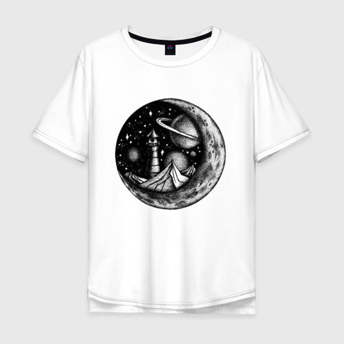 Мужская футболка хлопок Oversize  космос Фото 01