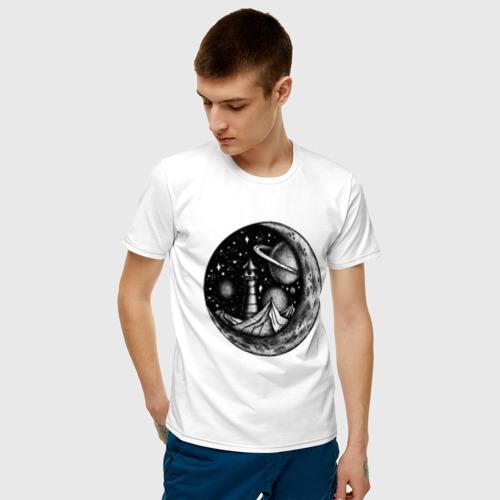 Мужская футболка хлопок  космос Фото 01