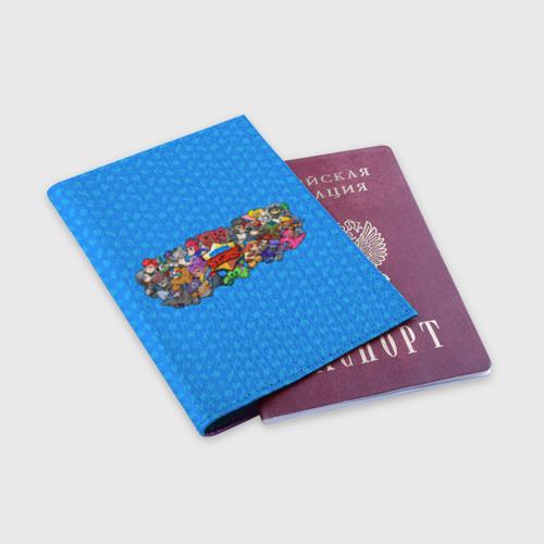 Обложка для паспорта матовая кожа Brawl Stars  Фото 01