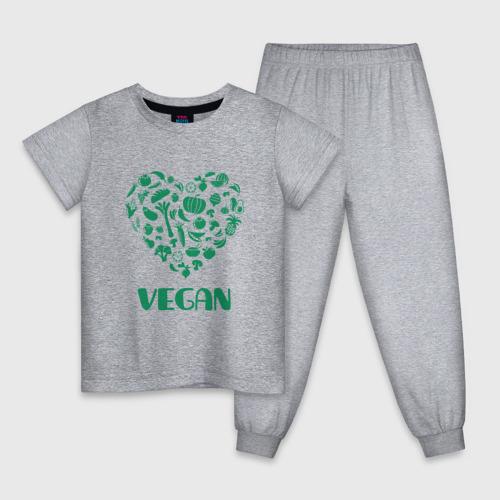 Детская пижама хлопок Vegan Фото 01
